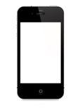 IPhone 4S die op witte achtergrond wordt geïsoleerdw Stock Foto's