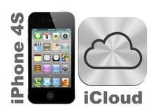 IPhone 4S + iCloud ilustración del vector