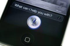 iPhone 4s Siri van de appel Royalty-vrije Stock Afbeeldingen