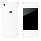 IPhone 4S in Wit Royalty-vrije Stock Foto
