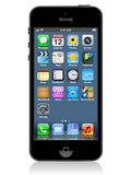 Iphone 5向量 皇族释放例证