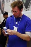 IPhone 5生成在伦敦 库存照片