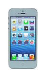 IPhone 5 με την παρουσίαση αμφιβληστροειδών Στοκ Φωτογραφίες
