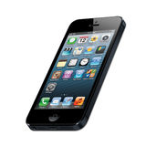 IPhone 5. New Apple iPhone 5 arrives September 12 stock illustration