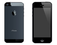 Iphone 5. An illustration of latest iphone. both front and back sides Stock Photography