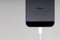 IPhone 5 Charging Stock Photos