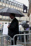 IPhone 5 draws fans to Apple stores in Paris Stock Photos