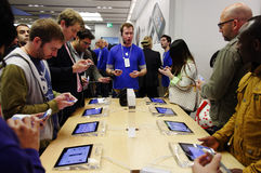 IPhone 5 launch in London Royalty Free Stock Images