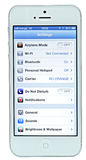 IPhone 5 med iOS 6 Royaltyfri Foto