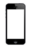 Iphone 5 template. Latest iphone template.black phone Royalty Free Stock Photography