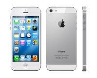 Iphone 5 van de appel wit Stock Fotografie