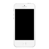 Iphone 5 white Arkivbild