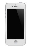 Iphone 5 white. Latest iphone template.white phone Stock Photo
