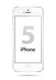 Iphone 5 White Vector. Vector illustration of the new Apple iPhone 5 isolated on white background. 100% photo-quality vector graphics. Additional format (EPS) is Stock Photos