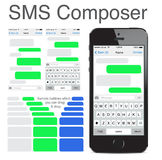 Iphone 5s Chatting Sms Template Bubbles Stock Image