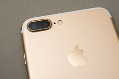 Free IPhone 7 Plus Dual Camera Unboxing Royalty Free Stock Images - 77632859