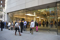 Iphone 6 in apple store, Downtown Chicago. Royalty Free Stock Photography