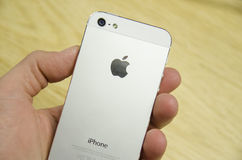 Iphone 5 white Royalty Free Stock Photos