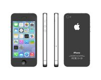 IPhone 5. Apple iPhone 5. Views from 4 sides.High res 3D computer generated image Stock Photo