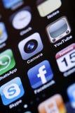IPhone 4 - Apps-Makro stockfotos