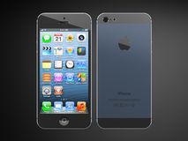Iphone5. Iphone 5 back and front view Stock Photos