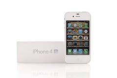 Iphone bianco 4S Immagini Stock Libere da Diritti
