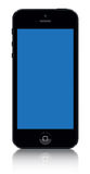 Iphone 5 black vector. Vector Illustration of the new Apple iPhone 5 black royalty free illustration