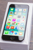 Iphone 6 with box Royalty Free Stock Photos