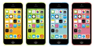 Iphone 5c Images libres de droits