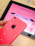 IPhone 5c Photos libres de droits