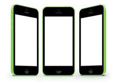 IPhone 5c con la pantalla blanca Imagen de archivo libre de regalías