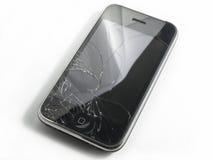 iPhone cassé photographie stock libre de droits