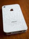 Iphone cassé Images libres de droits