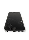 IPhone cassé 6 d'Apple avec l'écran criqué images stock
