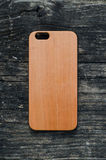 IPhone 6 Cherry wood case Royalty Free Stock Images
