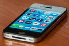 IPhone com Ios7 Imagens de Stock Royalty Free