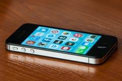 IPhone com Ios7 Fotos de Stock