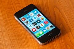 IPhone con Ios7 Fotografia Stock Libera da Diritti