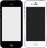 Iphone 5 czarny i biały wysokich res Zdjęcia Stock