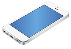 Iphone 5 3d white. Vector Illustration of the new Apple iPhone 5 white royalty free illustration
