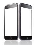 IPhone 6 di Apple con gli schermi in bianco Immagini Stock