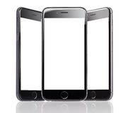 IPhone 6 di Apple con gli schermi in bianco Fotografie Stock Libere da Diritti