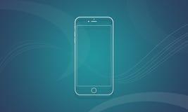 IPhone 6 do telefone celular Fotografia de Stock