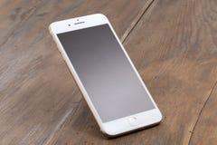 IPhone dourado 7 positivo Foto de Stock