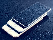 Iphone Drops Royalty Free Stock Image