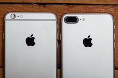 IPhone 6 e 7 positivos, câmera dupla nova Foto de Stock Royalty Free