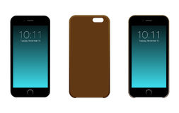 Iphone 6 eller 6S stock illustrationer