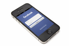 iphone facebook яблока Стоковые Изображения