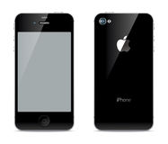 IPhone front and back sides Stock Photos