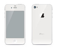 IPhone front and back sides Royalty Free Stock Images